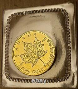 1994 Canada $2 1/15oz 24k Pure Gold Maple Leaf Coin Rare Seulement 3450 Minted Sealed