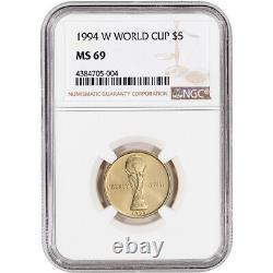1994-w Us Gold 5 $ Coupe Du Monde Commémorative Bu Ngc Ms69