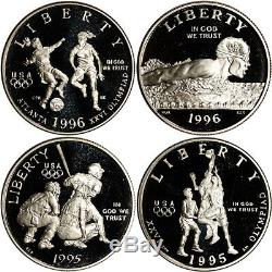1995 1996 Jeux Olympiques Des États-unis 32-coin Preuve Commémorative Et Set Bu