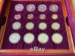 1995 1996 U. S. Jeux Olympiques 32 Pièce D'or Et D'argent Set Commémorative Proof & Bu