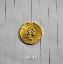 1996 Feuille D'érable Du Canada 10 9999 $ Pièce D'or 1/4 Oz Ferraille