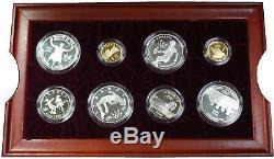 1996 Jeux Olympiques D'atlanta 16 Preuve D'or Et D'argent Set Coin Avec Boîte D'origine Et Coa
