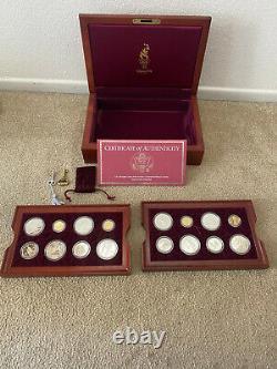 1996 Jeux Olympiques D'atlanta 16 Preuve De Pièce D'or Et D'argent Avec Boîte D'origine Et Coa