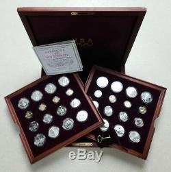 1996 Jeux Olympiques D'atlanta 32 Gold Coin & Proof & Uncirc Argent. Set Shf96aog