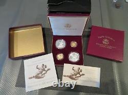 1997 Jackie Robinson & Gold & Silver (4) Pièce De Monnaie Livraison Gratuite