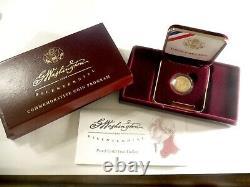 1999- W George Washington Gold $5 Bicentenaire Pièce Commémorative Avec L'aco 654