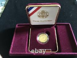 1999 W Washington Proof $5 Commemorative Gold USA Coin 8.359 Grammes D'or