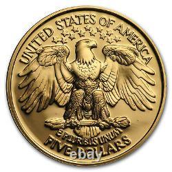 1999-w Or $5 Commem George Washington Proof (coin Seulement) Sku#45415