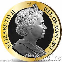 1/5 Oz Gold Coin 2015 Proof Ile De Man 175e Anniversaire Penny Black Stamp