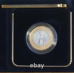 2000-w $10 Bibliothèque Du Congrès Pièce Bi-métallique Uncirculated Gold/platinum Bu