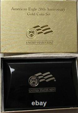 2006 W 20e Anniversaire Eagle D'or Set Ngc-70, 3 Coin Set- Ms70, Rp70, Pf70