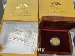 2008 W Gold $10 Jackson's Liberty 1/2oz Spouse Coin In Ogp Withcoa