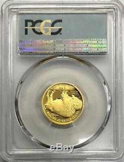 2008-w $ 10 1/4-oz D'or Buffalo Coin Pcgs Pr70dcam