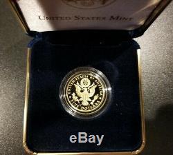 2008-w Preuve 5 $ Bald Gold Eagle Pièce Commémorative Avec La Boîte, Ogp & Coa