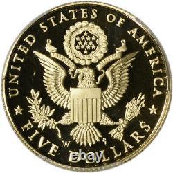 2008-w Us Gold $ 5 Pygargue À Tête Blanche Preuve Commémorative Pcgs Pr69 Dcam