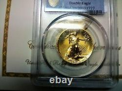 2009 20 $ Ultra High Relef Double Eagle Gold Coin Pcgs Ms70 Belle Pièce