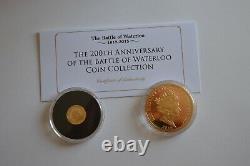 200e Anniversaire De La Bataille De Waterloo Collection De Pièces 1 Coa En Or Massif