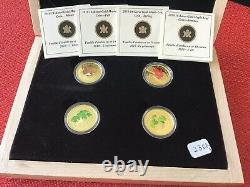2010 $75 Gold Coin Set Summer-spring Automne Hiver 0.9oz. Or Pur