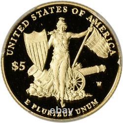 2011-w Us Gold 5 $ Médaille D'honneur Preuve Commémorative Pcgs Pr69 Dcam