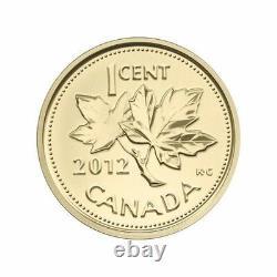 2012 Canada 1/25 Oz Pièce D'or Adieu À La Penny