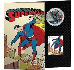 2013 Superman 75th Anniversary 7 Pièces Set Complet Avec 75 $ 14 Kt. Canadian Gold