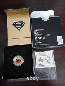 2014 $100 Canada Superman Gold Coin Adventures Of Superman #596 (2001) Non Taxe