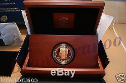 2014 50e Anniversaire Kennedy Half Dollar 24k Gold Proof Coin K15 En Stock Navire