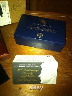 2014-w 50e Anniversaire Kennedy Half Dollar Proof Gold Coin K15 Jfk 24k Us Mint