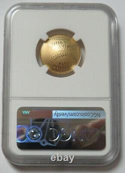 2014-w Baseball $5 Hall Of Fame Gold Us Proof Coin Ngc Pf 70 Uc