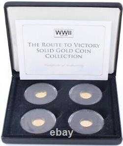 2015 The Route To Victory 4 X Solid Gold Proof 9 Carat Gold Proof Coin Set