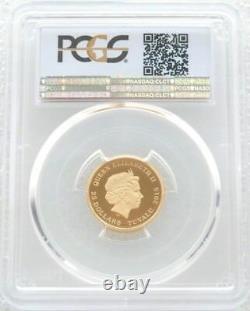 2015 Tuvalu Retour Vers Le Futur Delorean $25 Gold Proof 1/4oz Coin Pcgs Pr70 Dcam