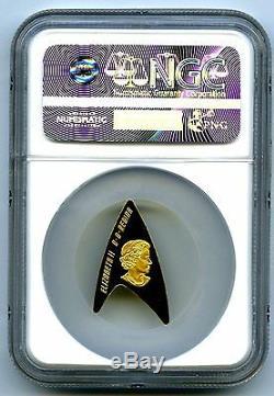 2016 $ 200 Canada Gold Star Trek Ngc Pf70 Ucam Delta Coin Presse Premier Pop1 001