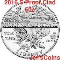 2016 3 Set Coin 100e Anniversaire National Park Service Nouve 5 $ Or Unc 16cg