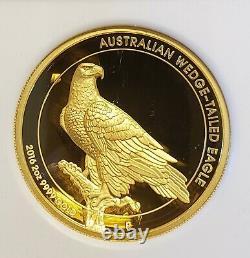 2016 Australia Australia Australian 2 Oz Wedge-tailed Eagle Hr Proof Gold Coin Ngc Pf70 Uc