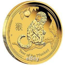 2016 Australian Année Lunaire Du Singe 1/10 Oz Preuve D'or 15 $ Coin Australie