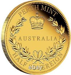 2016 Australie Half Sovereign Gold Proof Coin Proof $15 Coin 1500 Mintage