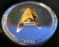 2016 Canada 200 $ 0,5 1/2 Oz 9999 Or Pur 50e Anniversaire Star Trek Delta Coin