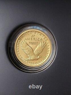 2016 Centennial Standing Liberty Quarter Gold Coin Avec Us Mint Box/coa