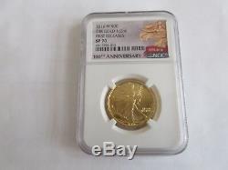 2016 W 100e Anniversaire Ngc Sp70 Or 50c Marche Liberté 24k 1/2 Oz Coin