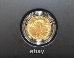 2016 W Gold Standing Liberty Quarter Centennial Coin Box Et Coa