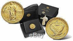 2016 W Standing Liberty Trimestre De L'or Du Centenaire De Commémoration Coin Avec Ogp 16xc