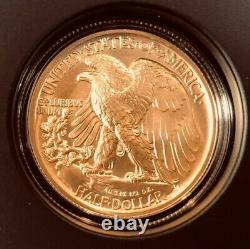 2016 W Walking Liberty 50c Half Dollar Centennial 1/2 Oz. 9999 Pièce D'or