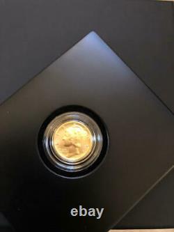 2016-w 1/10 Oz. 9999 Centre De Mercurie Dimension D'or Avec Box Et Coa