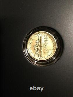 2016-w 1/10 Oz. 9999 Coin De Dimension De Mercurie D'or Avec Box Et Coa Us Mint
