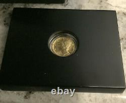 2016-w 1/10 Oz. 9999 Gold Centennial Mercury Dime Coin Withbox & Coa