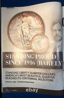 2016-w Standing Liberty Centennial 1/4 Troy Oz. Pièce D'or