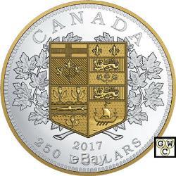 2017 $ 250 Pièce En Argent Fin Le Premier Canadien Pièce D'or (18149) (nt)