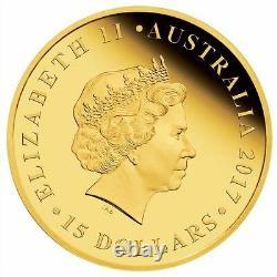 2017 Australie Demi Souverain Or Preuve Preuve Pièce 15 $ Monnaie 1000 Mintage