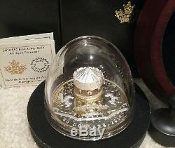 2018 Antique Carousel 50 $ 6oz Plaqué Or-argent Pur Preuve Canada Pièce
