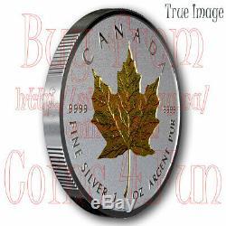 2019 40e Anniversaire De L'or Maple Leaf Gml 20 $ 1 Once Pur Silver Coin Canada